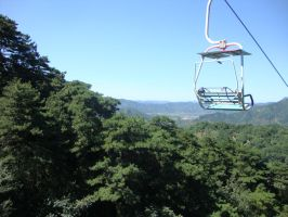 On the chair lift by Laura-in-china