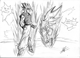 SOLAR CLASH 2 - Son Goku Vs Sonic by kaiserkleylson