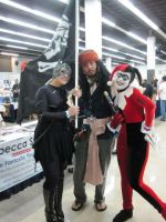 Harley, Catwoman and Jack Sparrow at FSC 2010 by deadpool24