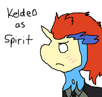Keldeo as Spirit from Soul Eater by Cocoafox895