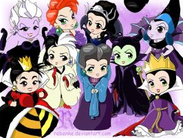 Chibi-Disney woman evil by rebenke