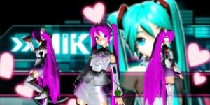 P-Style Miku Dt (Purple) by GrayFullbuster21