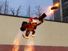 Diddy Kong With Brawl Props. by SuperSmashBrosGmod