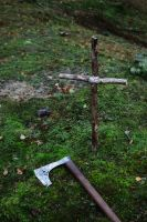 The axe and the grave 2 by Dewfooter