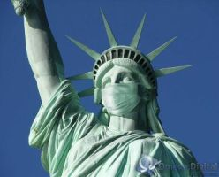 Statue of Liberty Influenza by barcecruz