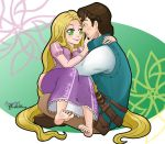 Rapunzel and Eugene by AnnaDM