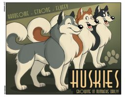 Animal Propaganda - Huskies by marymouse