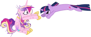 Twilight Sparkle Attacks Princess Cadance by 90Sigma