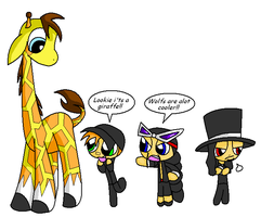 OP - The powerpuffy giraffe... by Rosey-Raven