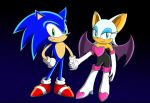 Sonic and Rouge by Ihtiander