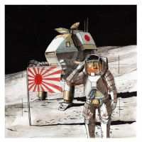 Japanese moon landing by Sapiains