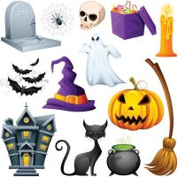 Free vector halloween icon set collection by cgvector