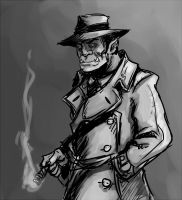 Orc detective by kingjder
