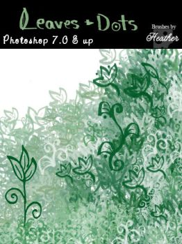 Leaves and Dots Brushes by GeneveveX