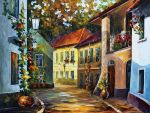 Hot noon by Leonid Afremov by Leonidafremov