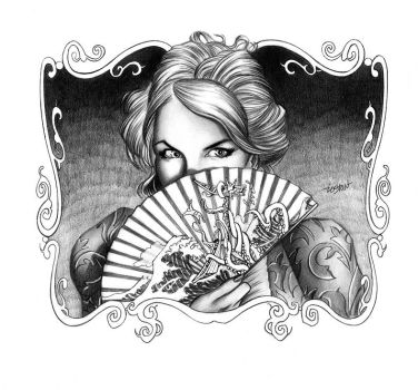 Becky Sharp Title Illustration by LostonWallace
