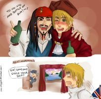 ..and bottle of rum... by EmjayxD