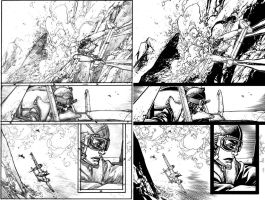 Wild Blue Yonder Issue 6 Page 8 Pencils and Inks by Spacefriend-KRUNK