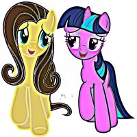 Me and Twilight's sister (Tiffany Sparkle) by Emidubstep