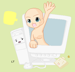 Chibi in the Comp Base by LahEh