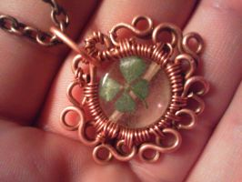 tiny clover luck amulet by PK-Photo