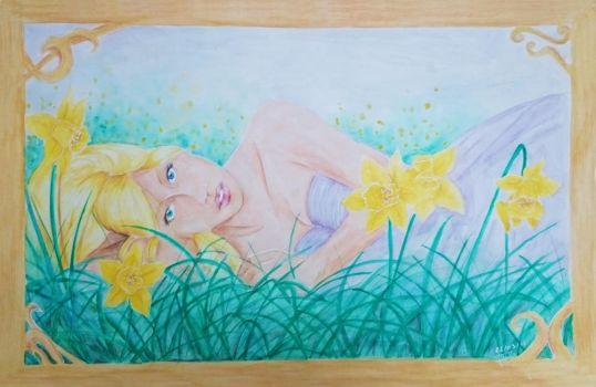 Greet the Spring Daffodil by Swanhilde