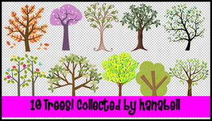 10 Trees Collected by hanabell by HanaBell1