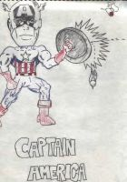 captain america chibi style by dragon3166