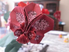 Origami Orchid by L3idba