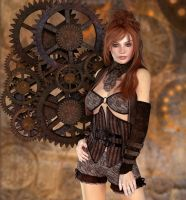 Steampunk Lady by morgana147