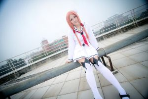Guilty Crown_Mana Ouma by vicissiJuice