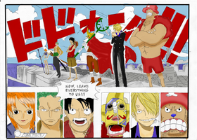 One Piece - Strawhats Color by PortgasGFX
