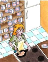 Zombie Cooking by the-punk-hippie