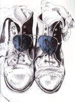 Shoes Wearing Sunglasses by Cumino