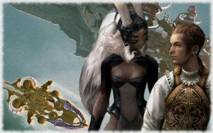Sky Pirates: Balthier + Fran by ViciousValentine