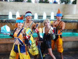 Final Fantasy 10's Wakas and Tidus Cosplays by GamerZone18