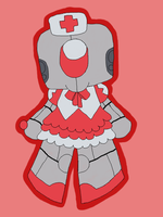 Robot Chibi - Flat Color by Boo-tastic