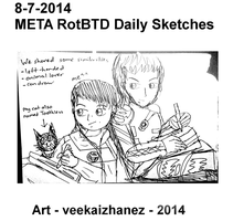 META RotBTD 2014 Daily Sketch 7-8 by veekaizhanez
