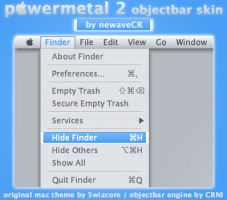 PowerMetal 2 Objectbar Skin by NewaveCR