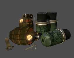 Mills Bomb and No77 Smoke Grenade by Volcol