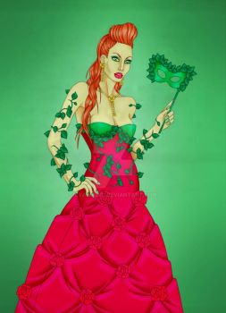 Poison Ivy Masquerade by CyanSoul