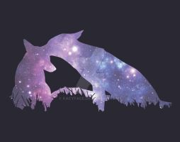 Starry Foxes by kacyface