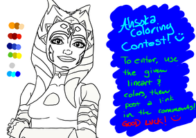Ahsoka Coloring Contest Lineart by Chrisily