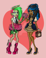 Monster High: Date Night Venus and Robecca by tsukinoyagami