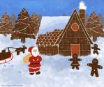 A Gingerbread Christmas First Try by Amarie-Veneanar
