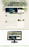Minecraft Webdesign (Minename Example) by Owniix3