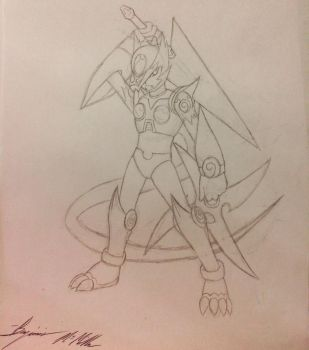 Amaterasu X Zero Fusion (Sketch) by SonGozen