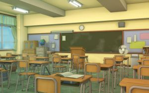 Classroom VN Background by JakeBowkett