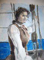 Will Turner, watercolor by Powerfulwoodelf