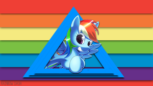 Rainbow Dash | Wallpaper by arkkukakku112